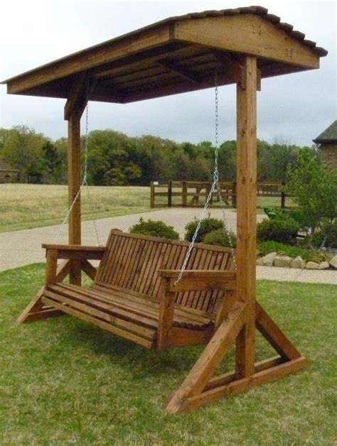 Outdoor Covered Swing Plans