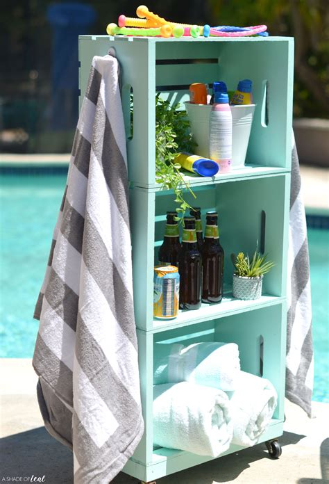 Outdoor Diy Towel Storage