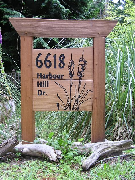 Outdoor Diy Wood Address Signs
