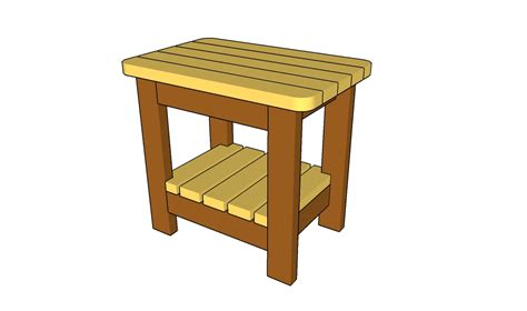 Outdoor End Table Woodworking Plans