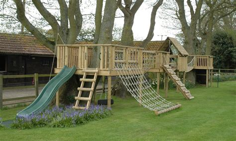 Outdoor Kids Play Structure Wood Diy