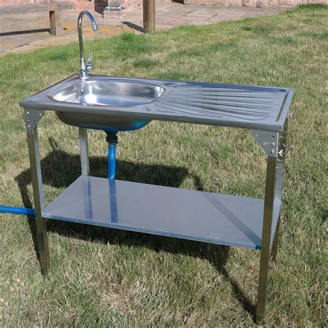 Outdoor Kitchen Table With Sink