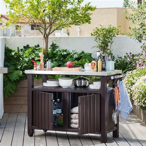Outdoor Kitchen Table With Storage