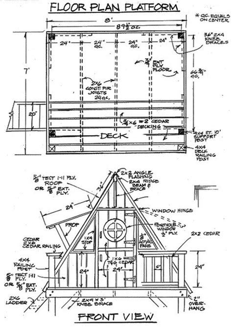 Outdoor Life A Frame Tree House Plans