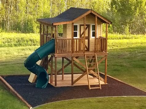 Outdoor Play Fort Plans