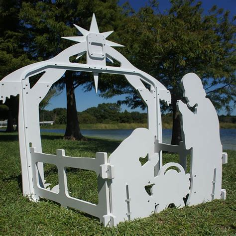 Outdoor Plywood Nativity Plans