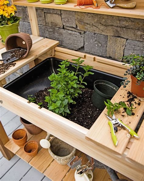 Outdoor Potting Bench With Sink Plan Se De Color At Un