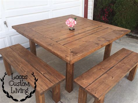 Outdoor Square Table Diy Farmhouse