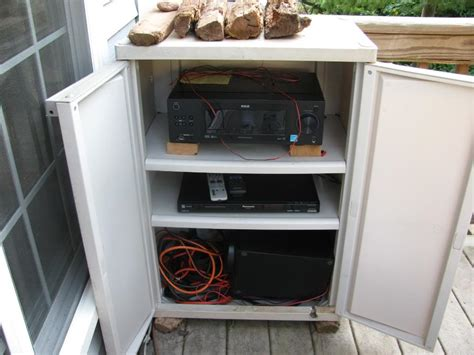 Outdoor Stereo Cabinet Diy