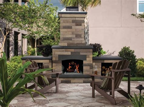 Outdoor Stone Fireplace Plans Free