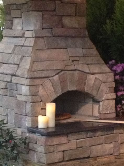 Outdoor Stone Pizza Oven Fireplace