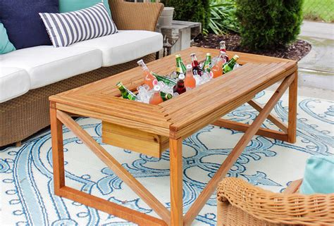 Outdoor Table With Cooler Building Plans