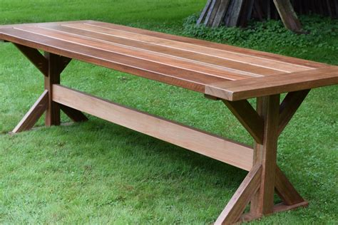 Outdoor Trestle Dining Table Plans