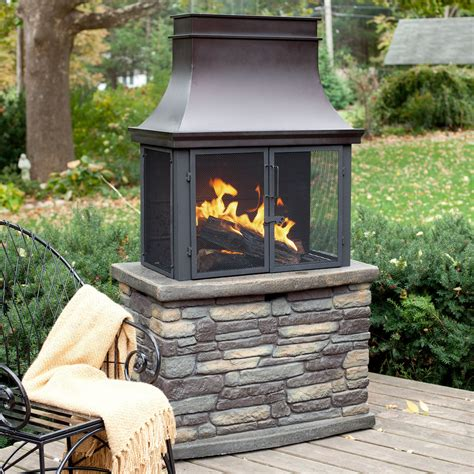 Outdoor Wood Burning Fireplace Diy Decorations