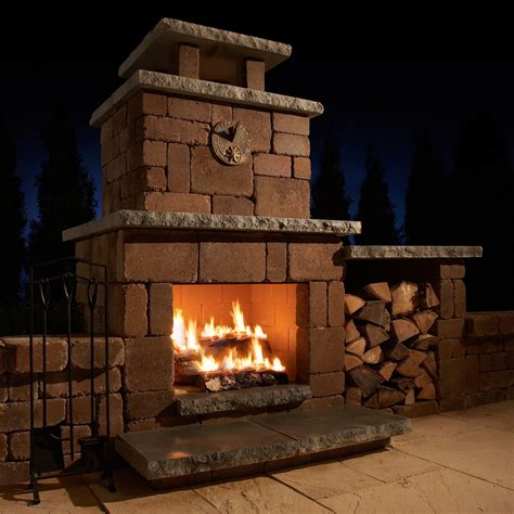 Outdoor Wood Burning Fireplace Diy Remodel