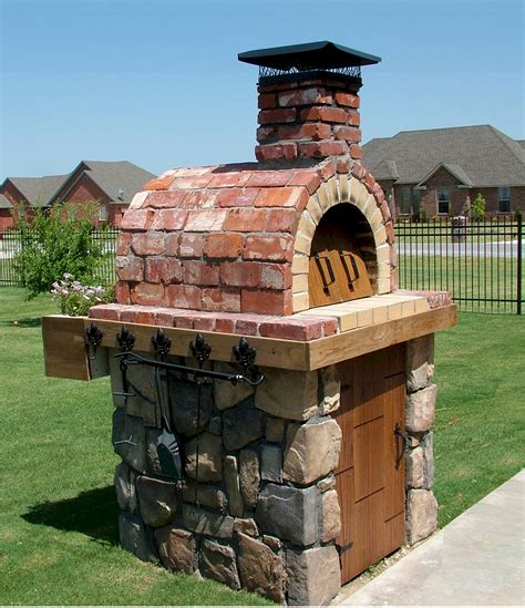 Outdoor Wood Burning Pizza Oven Diy Brick