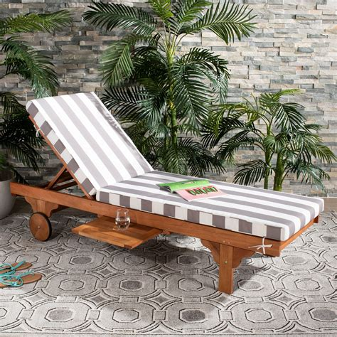 Outdoor Wood Chaise Lounge Chair