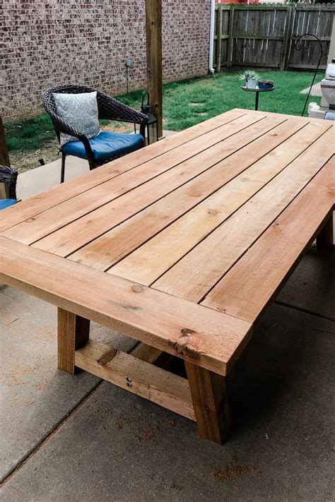 Outdoor Wood Dining Table Diy Ideas