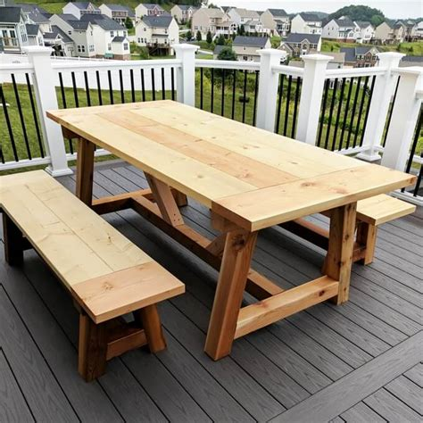 Outdoor Wood Dining Table Diy Pipe