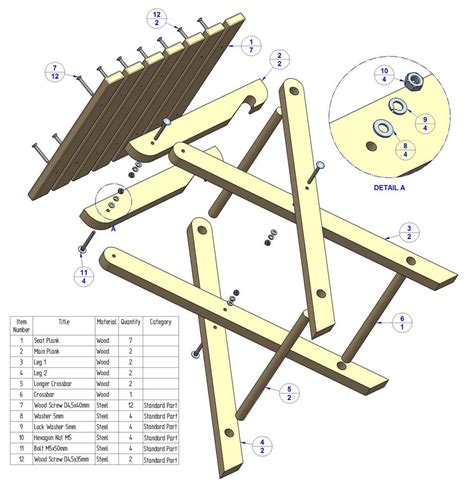 Outdoor Wood Folding Stool Plans