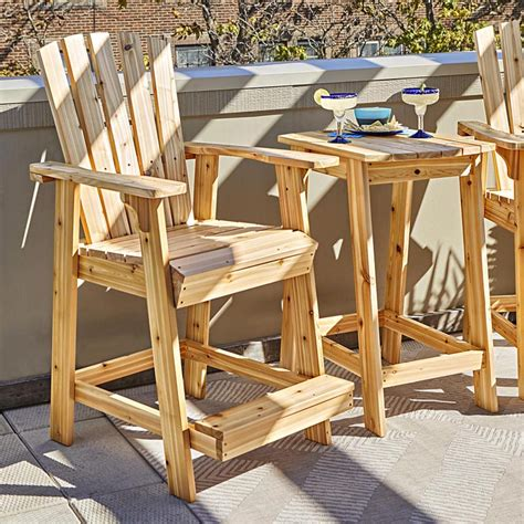 Outdoor Wood Furniture Plans High Top Table