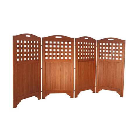 Outdoor Wood Privacy Screen By Vifah
