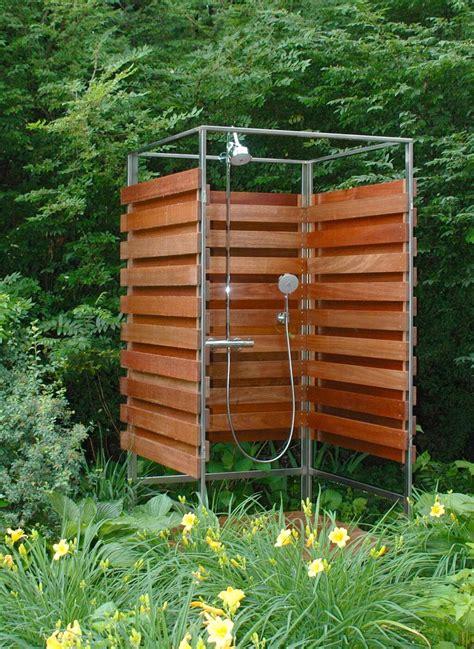 Outdoor Wood Shower Tower Diy