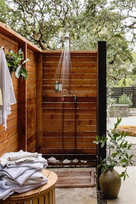 Outdoor Wood Shower Tower Diy Projects