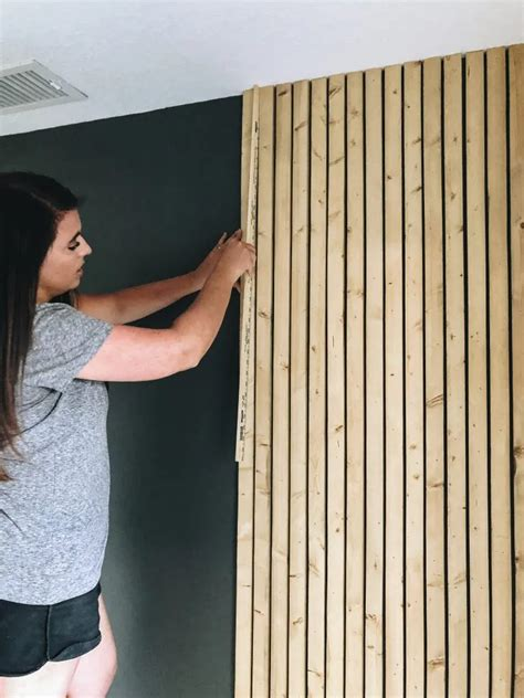 Outdoor Wood Slat Wall Diy Paint