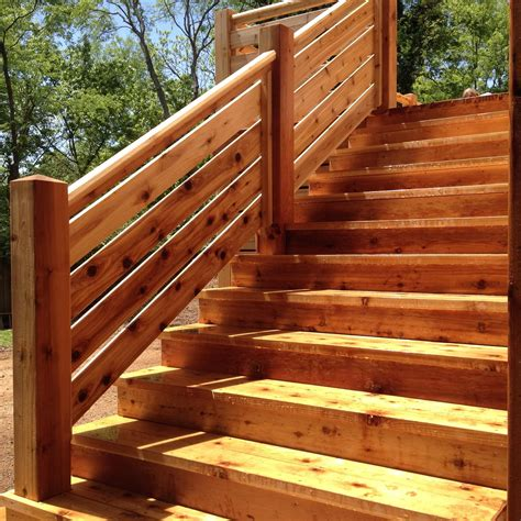 Outdoor Wood Steps Design