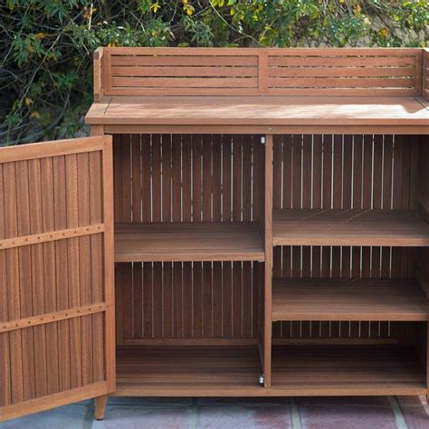 Outdoor Wood Storage Cabinet Plans