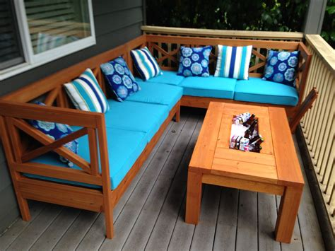 Outdoor Wooden Couch Plans Diy Patio