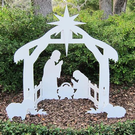 Outdoor Wooden Manger Scene Plans