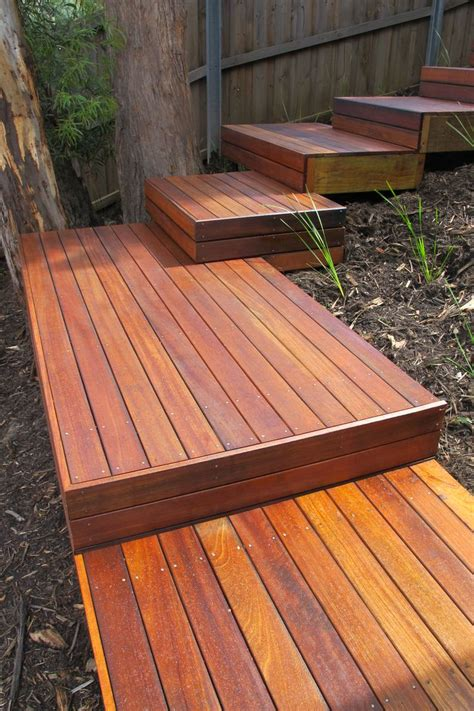 Outdoor Wooden Platform Stair Plans And Designs