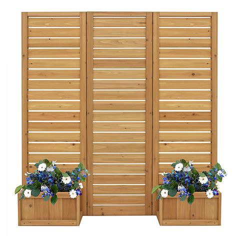 Outdoor Wooden Privacy Screen