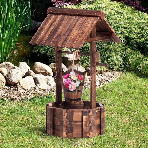 Outdoor Wooden Wishing Well Plans