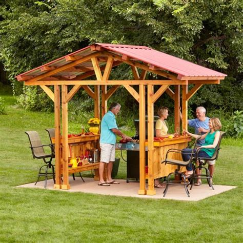 Outdoor-Grill-Gazebo-Plans