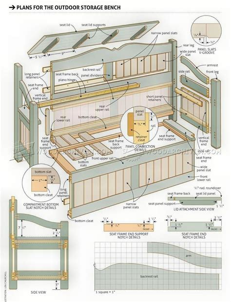 Outdoor-Storage-Bench-Woodworking-Plans