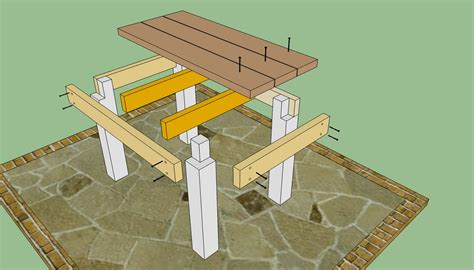 Outdoor-Table-Construction-Plans