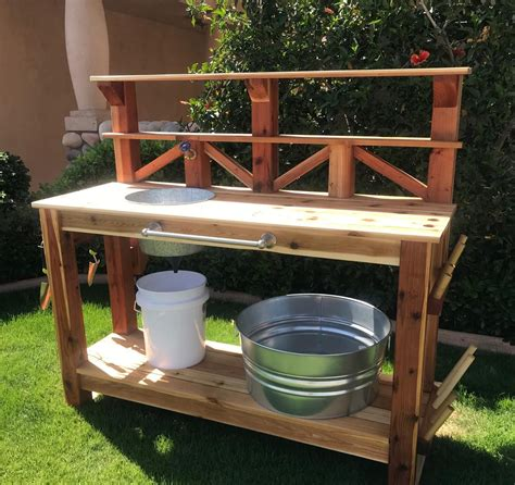 Outdoor-Table-With-Sink-Plans