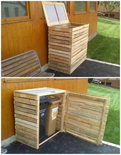 Outdoor-Wood-Garbage-Bin-Plans