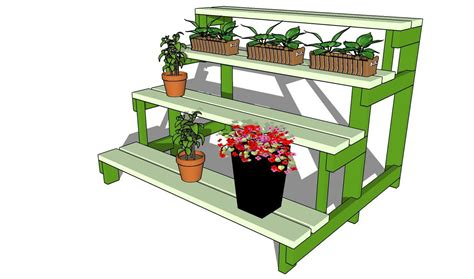 Outdoor-Wooden-Plant-Stand-Plans