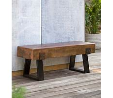 Best Outdoor decorative wooden benches