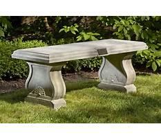 Best Outdoor garden benches stone