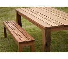 Best Outdoor table bench seats