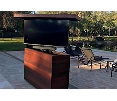 Best Outdoor tv lift cabinet