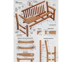 Best Outdoor wooden bench plans free