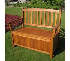 Best Outdoors wooden storage bench