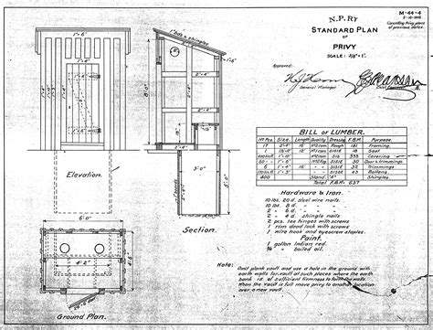 Outhouse Floor Plans