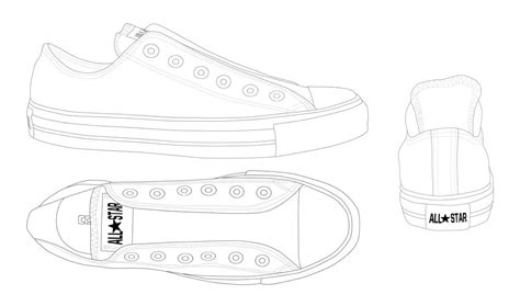 Outline Of Converse All Star Sneaker